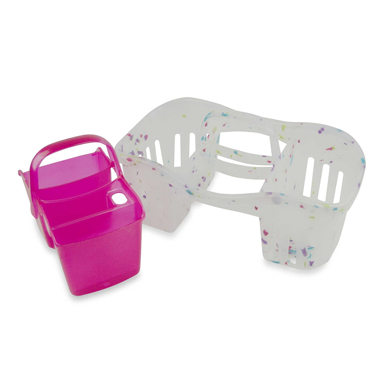 2-in-1 Interlocking Handy Shower Caddy features Removable Mini-Caddy ...