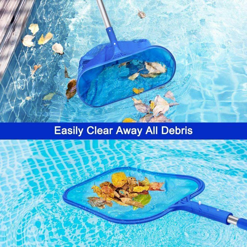 Swimming Pool Mesh Leaf Skimmer Rake Net Hot Tub Spa Cleaning Leaves Tools Clean