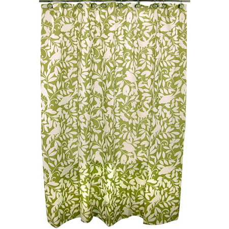 Famous Home Waverly Shower Curtain Green