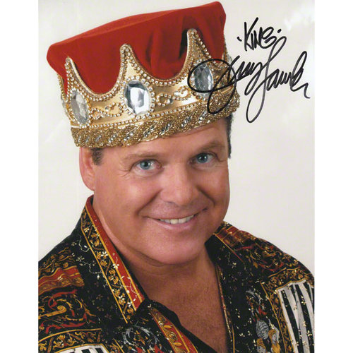 Jerry Lawler Autographed 8x10 Photograph with The King Inscription