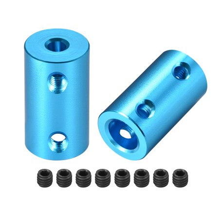 Shaft Coupling 4mm to 8mm Bore L25xD14 Robot Motor Wheel Rigid Coupler Blue 2PCS - image 1 de 3