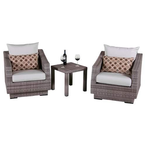 RST Brands  Cannes Club Chairs and Table  Outdoor Furniture  Cannes  Furniture  Outdoor Bistro Sets  ;Moroccan Cream
