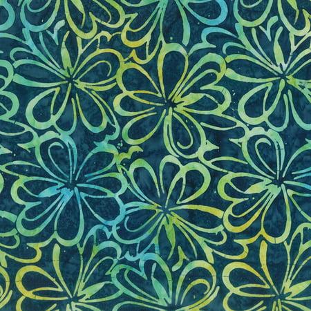 Fabric Graphics (Wilmington Batiks Off Tropic Navy Blue Graphic Floral)