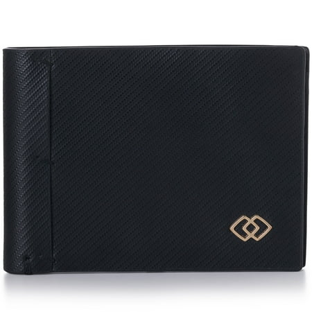 Alpine Swiss Double Diamond Mens RFID Slimfold Wallet Thin Leather Bifold