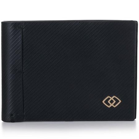 Alpine Swiss Double Diamond Mens RFID Slimfold Wallet Thin Leather (Thin Clutch Wallet)