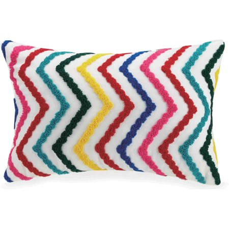 Better Homes and Gardens Embroidered Chevron Youth Pillow, 12