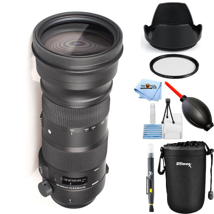 Sigma 150-600mm f/5-6.3 DG OS HSM Sports Lens for Canon EF (Black) STARTER KIT