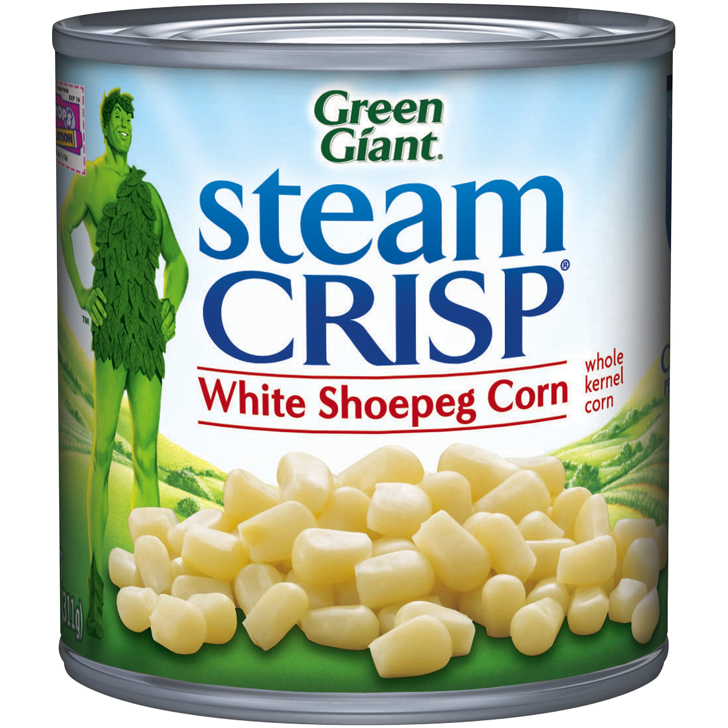 Green Giant Steam Crisp White Shoepeg Whole Kernel Corn, 11 oz