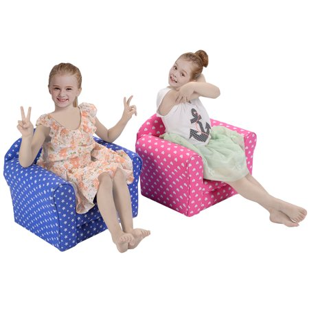 costway pink w stars kid sofa armrest chair couch children