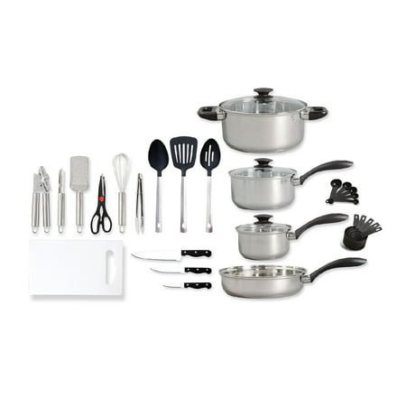 Gibson Total Kitchen 30 Pc. Cookware Set (Kitchen In A Box 14 Pc Set)