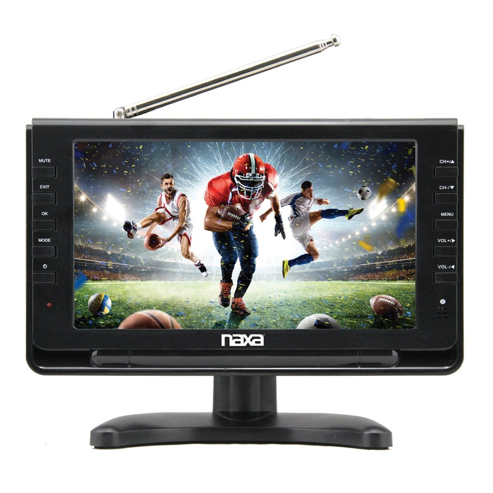 "NAXA NT-110 10"" Portable TV & Multimedia Player with Car Package"