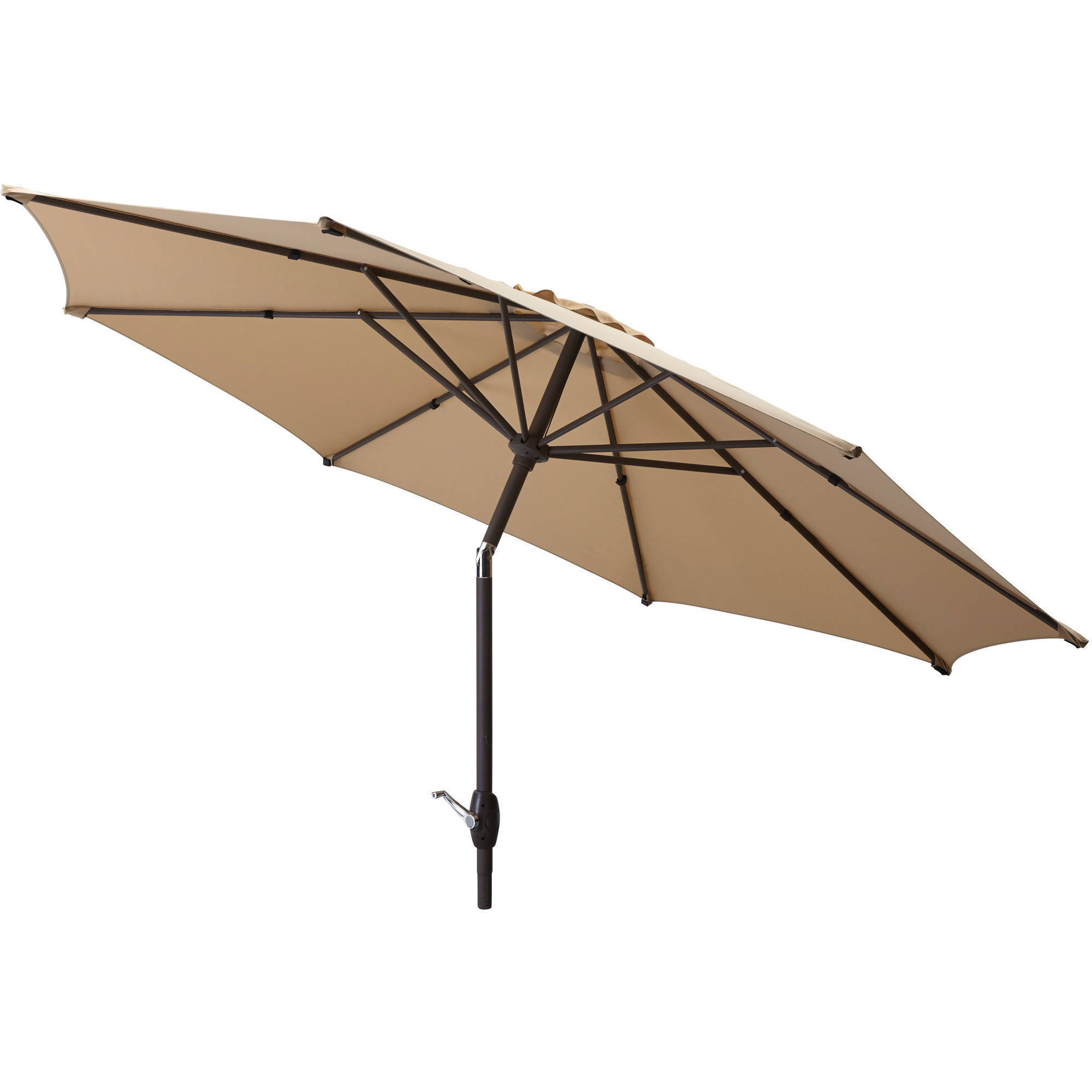 Mainstays 9 39 market umbrella at garden sensation for Outdoor patio umbrellas