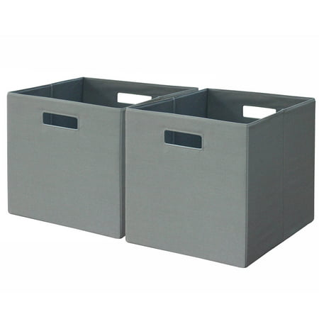 Better Homes And Gardens 13 5 X 13 5 Open Slot Cube Storage Bins Set Of 2 Multiple Colors
