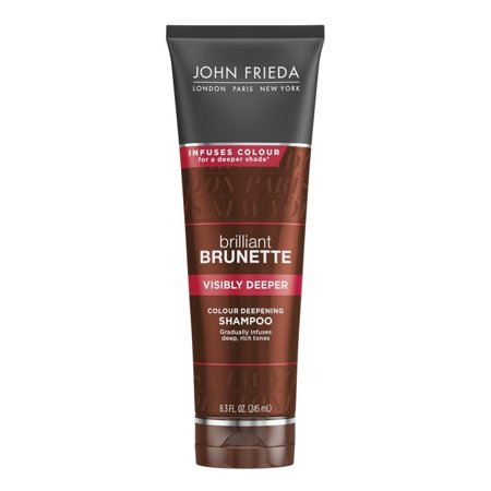 John Frieda Brilliant Brunette Visibly Deeper Colour Deepening Shampoo, 8.3 Oz