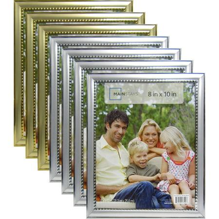 Mainstays Alicia Bead 8 X 10 Frame Set Of 5 Silver