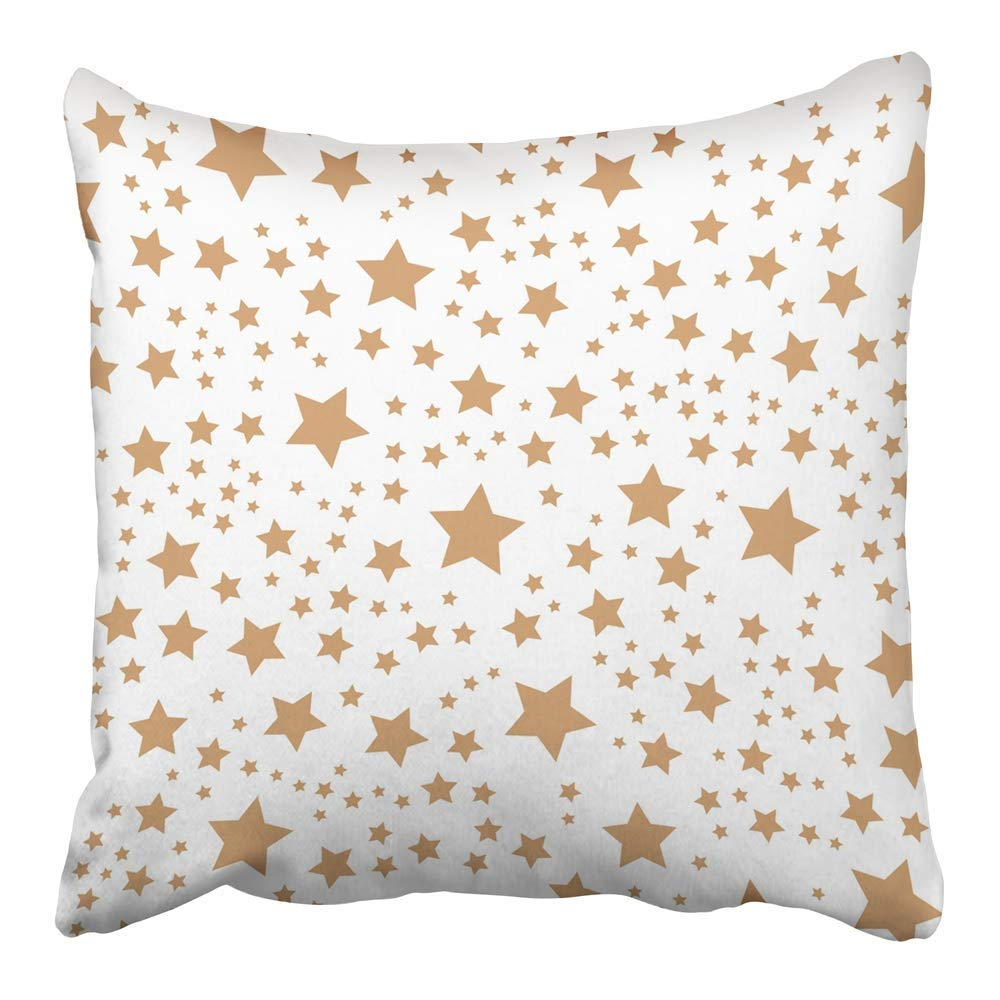 USART Abstract with Gold Stars America American Black Color Creative Graphic Kids Pillowcase Cushion Cover 16x16 inch