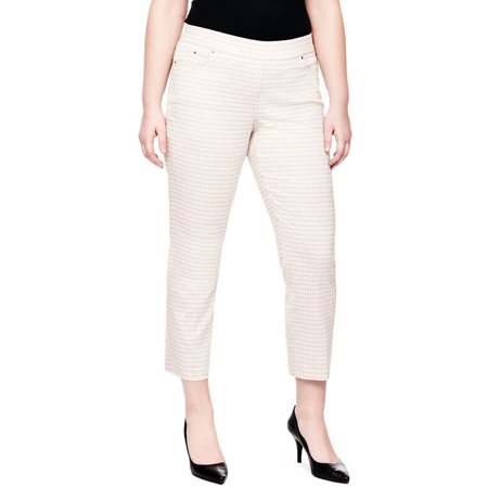 aebaf50a5cd35 Heart N Crush - Women s Plus-Size Geo Printed Pull On Pant - Walmart.com
