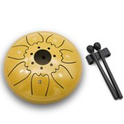 6in Metal Tongue Drum Mini 7-Tone Hand Pan Drums with Drumsticks Percussion Musical Instruments
