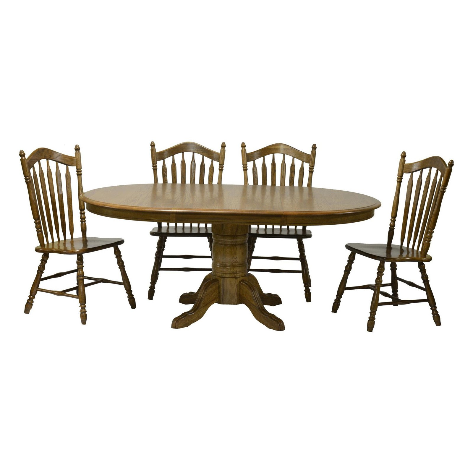 Chelsea Home Sourwood Pedestal Dining Table by Chelsea Home Furniture LLC.