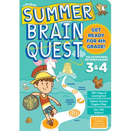Summer Brain Quest: Between Grades 3 & 4 - Paperback (Halloween Art For Grade 4)