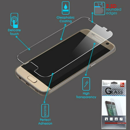 For Samsung Galaxy S7 Clear Tempered Glass Screen Protector Film Cover