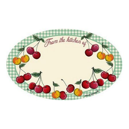 Baking Labels (Cherries Design - Baking/Canning Oval Labels - 10 Labels - 3in. X)