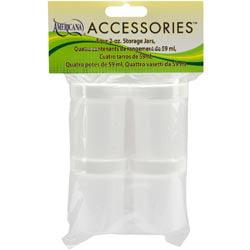 Bulk Buy: DecoArt Paints (3-Pack) Storage Jars 4 Pkg 2oz DAS210-K by DecoArt, Inc.