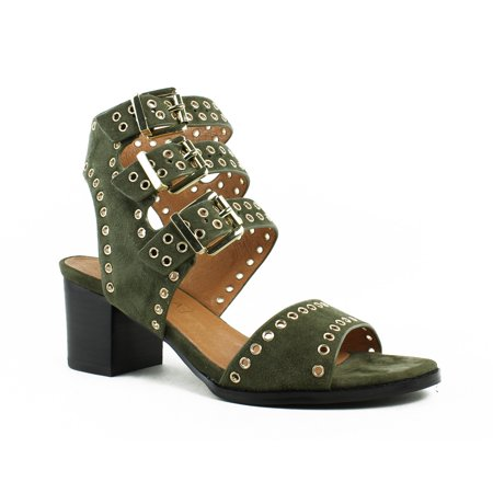 Sol Sana Womens  Green Ankle Strap Heels Size 8 New (Green High Heels Shoes)
