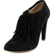Womens Chloe 25180 Fringe Dress Ankle Boots - Black