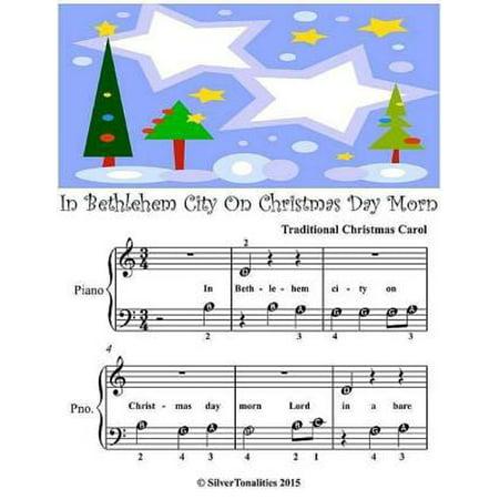 In Bethlehem City On Christmas Day Morn - Beginner Tots Piano Sheet Music - eBook (Halloween Piano Sheet Music Nightmare Before Christmas)