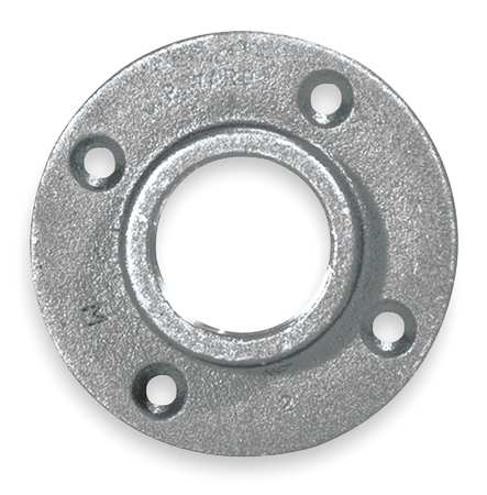 Floor Flange,1/4 In,NPT,Malleable Iron 511-601HC