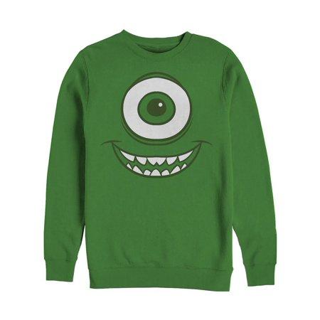 Monsters Inc Men's Mike Wazowski Eye Sweatshirt (Mike W Monsters Inc)