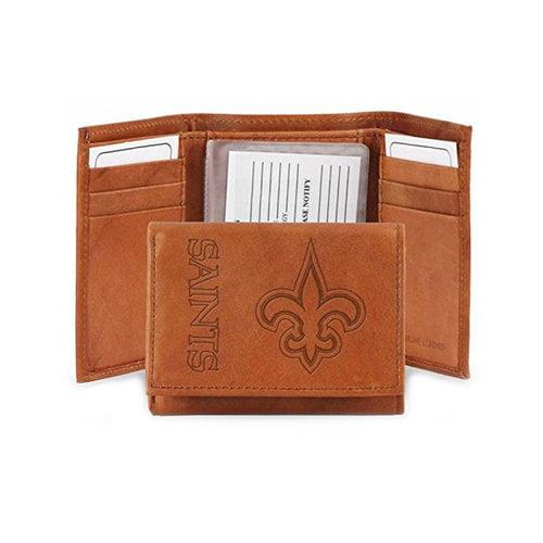 NFL New Orleans Saints Leather Trifold Wallet
