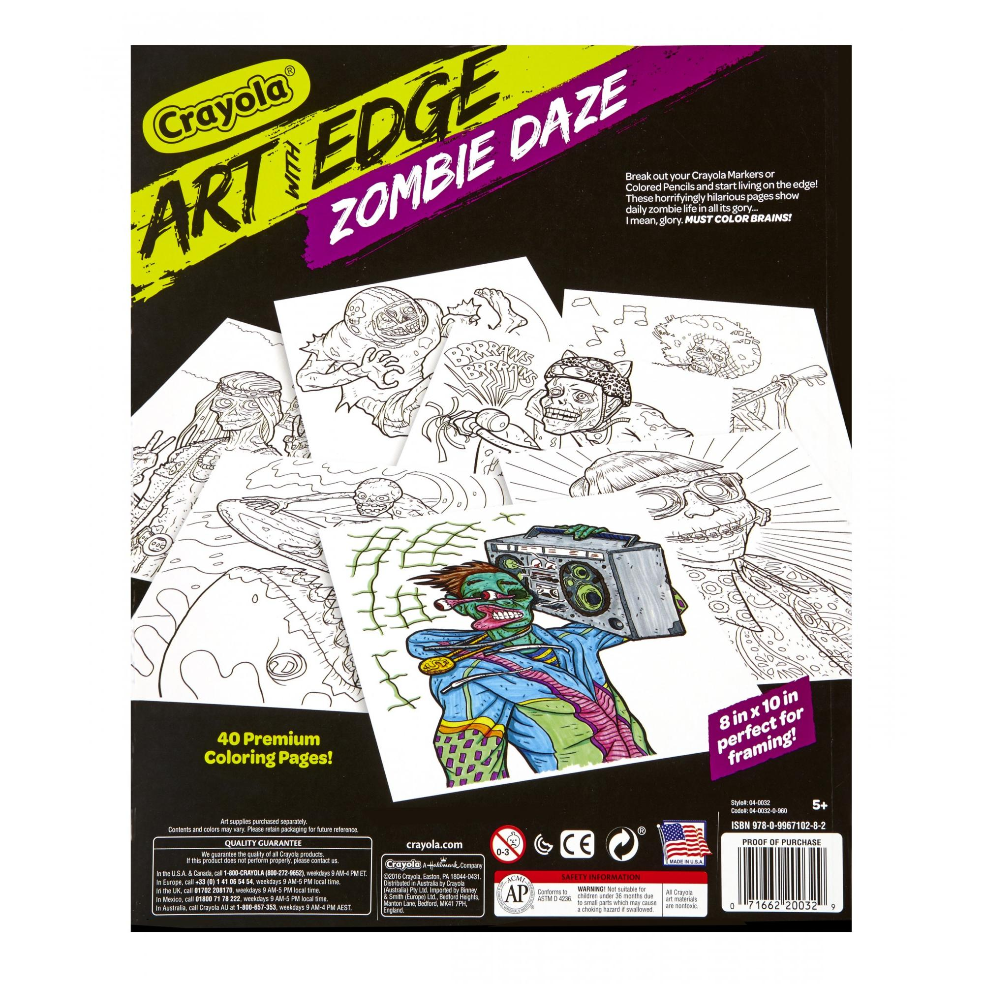 Crayola Art With Edge, Zombie Daze Coloring Book, 40 Pages - Walmart.com