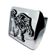 Memphis Tigers Chrome Metal Hitch Cover with Chrome Logo