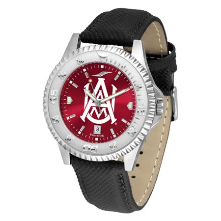 "Alabama A&M Bulldogs NCAA Anochrome ""Competitor"" Mens Watch (Poly/Leather Band)"