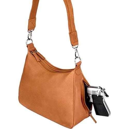 GTM Conceal Carry Basic Hobo Handbag, Tan