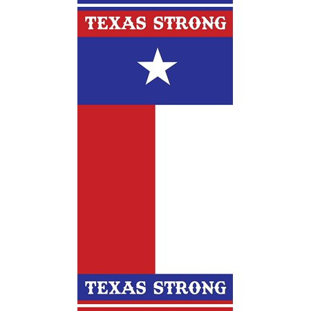 Texas Strong Flag 30x60 Cotton Velour Beach Towel