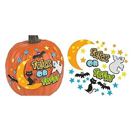 12 - Trick or Treat Pumpkin decorating craft kits (Pumpkin Craft)
