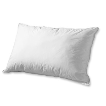 Super Soft Luxury SOLID Feather/Goose Down SET of 2 PILLOWS - 1200 Thread Count %100 Cotton- Standard - Down On The Count