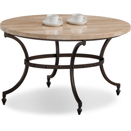 Stone Base Coffee Table.Leick Home Oval Travertine Stone Top Coffee Table With Rubbed Bronze Metal Base