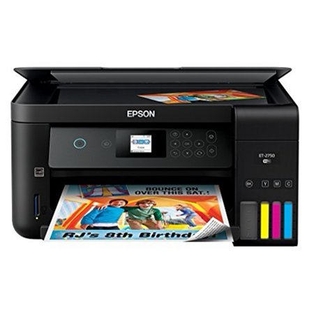 Epson Expression ET-2750 EcoTank Wireless Color All-in-One Supertank Printer with Scanner and