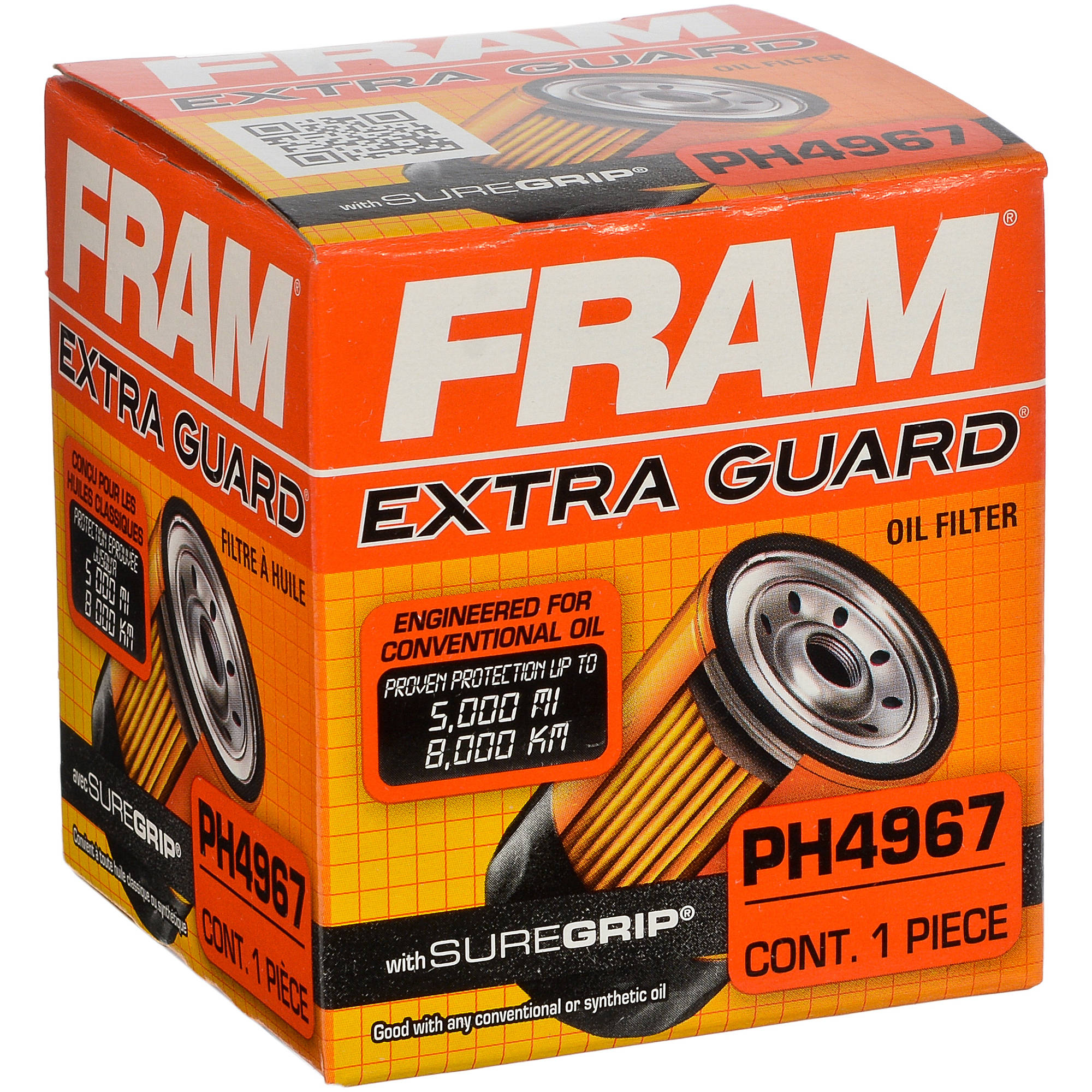 FRAM Extra Guard Oil Filter, PH4967