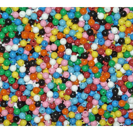 12mm Multi Colors JOLLY STORE Crafts Pop Snap Beads 1gross/144pc made in USA - Multi Color Beads