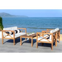 Safavieh Nunzio 4 Piece Outdoor Set with Accent Pillows