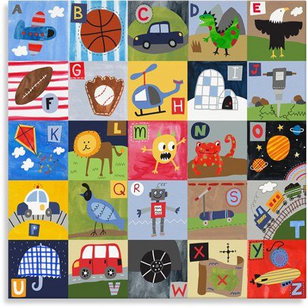 Oopsy Daisy Too My ABC\'s, Boy, Canvas Wall Art - Walmart.com