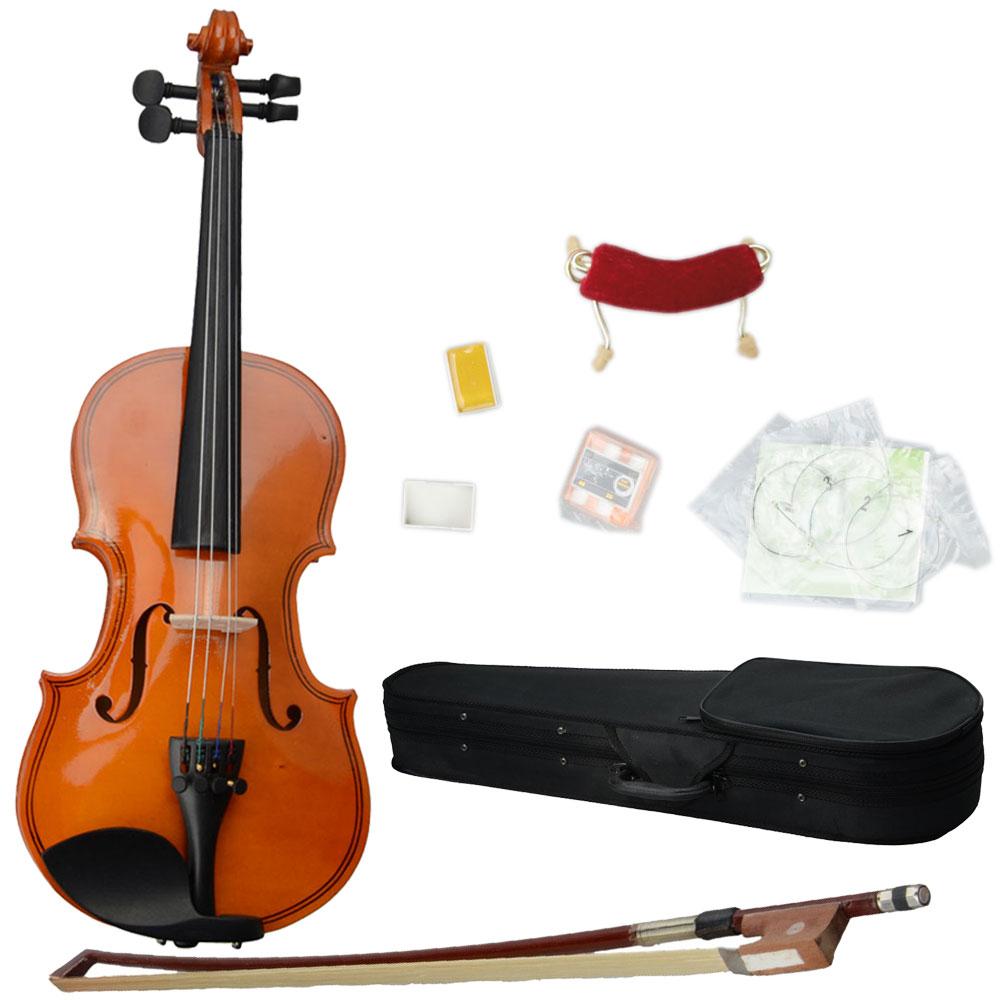 Ktaxon 1 8 Solid Wood Natural Color Violin + Case + Bow + Rosin + Shoulder Rest + String +... by