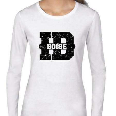 Boise  Idaho Id Classic City State Sign Womens Long Sleeve T Shirt