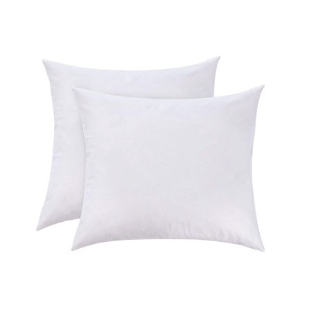 L' COZEE 100% Cotton Cover, Feather & Down Pillow, Best use for Decorative Pillows & for Firm Sleepers, Dust Mite Resistant (not Polyester Filled) Euro Size 26x26 Set of 2 26X26 ( 2 PACK