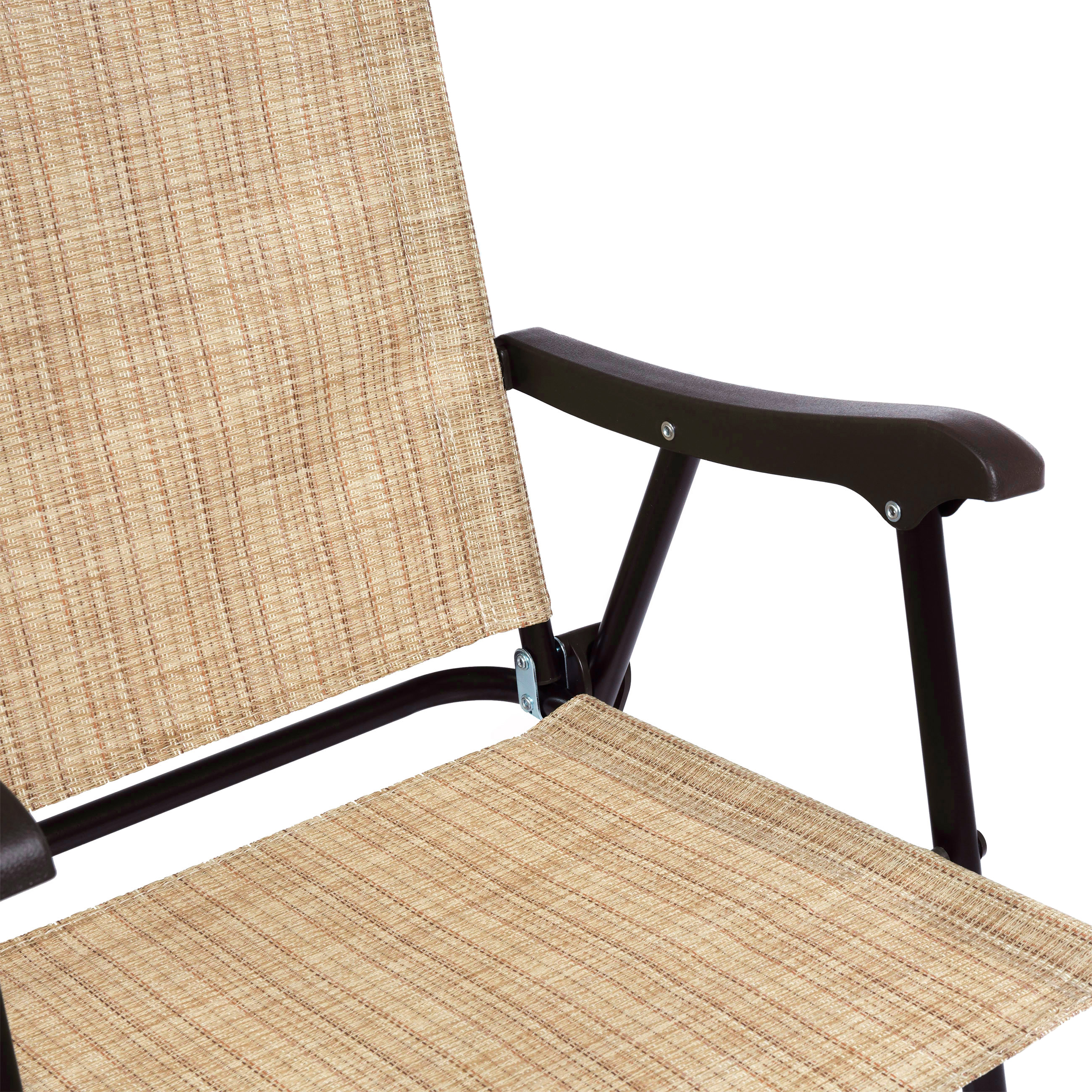Set Of 2 Outdoor Mesh Fabric Folding Sling Back Chairs For Backyard Picnics  NEW
